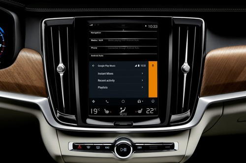 Android Auto mit Google Play Music im Volvo.