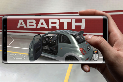 "Augmented-Reality-App ""Abarth AR 695"""