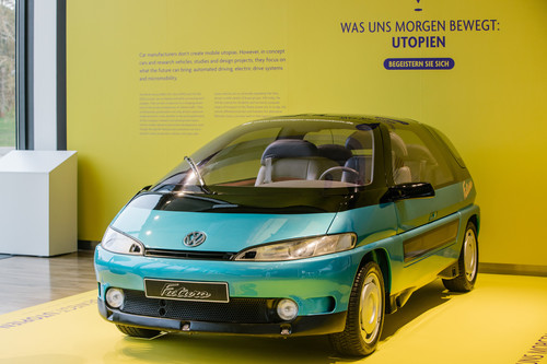 Automobile Utopien in der Autostadt: VW Futura (1989).