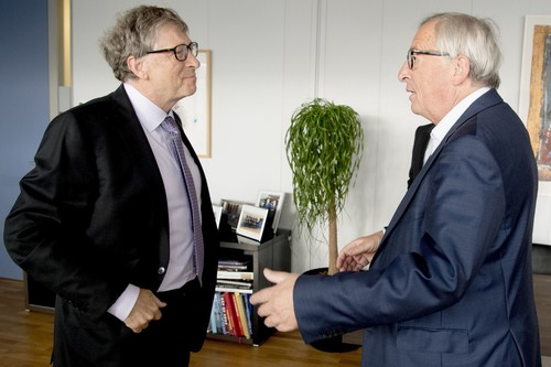 Bill Gates und Jean-Claude Juncker.