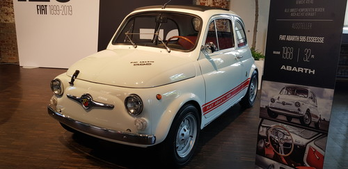 Blick ins Fiat- & Abarth-Museum.