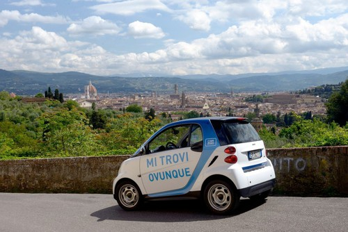 Car2go in Florenz.