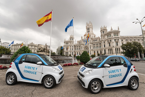 Car2go in Madrid.