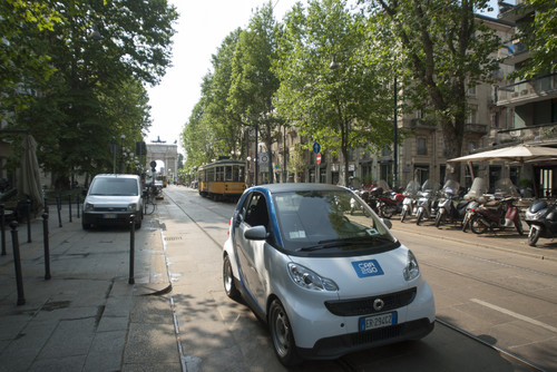 Car2go in Mailand.
