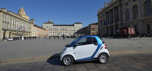 Car2go in Turin.