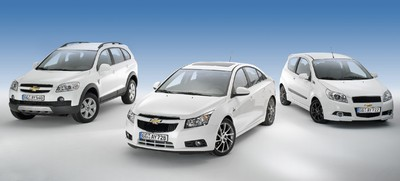 Chevrolet Aveo Sport Edition, Chevrolet Cruze Irmscher Edition und Chevrolet Captiva Family Edition.