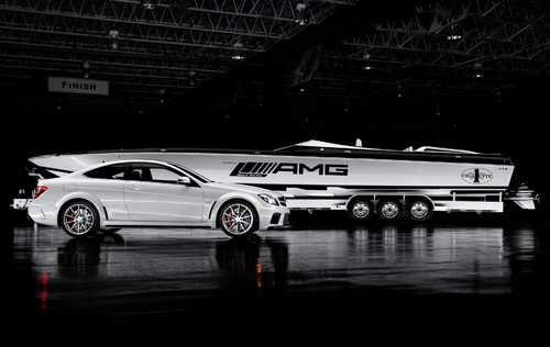 "Cigarette Racing ""The Inspired by AMG Black Series 50' Marauder""."