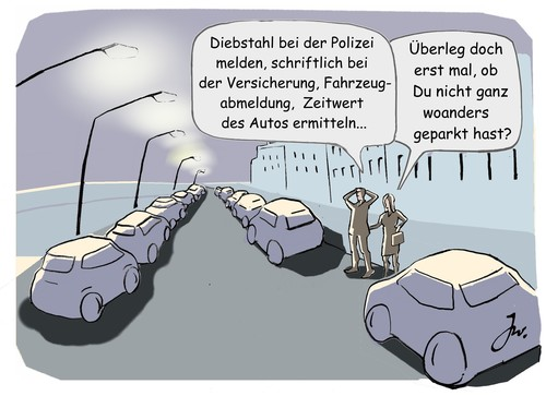 Comic: Autodiebstahl.