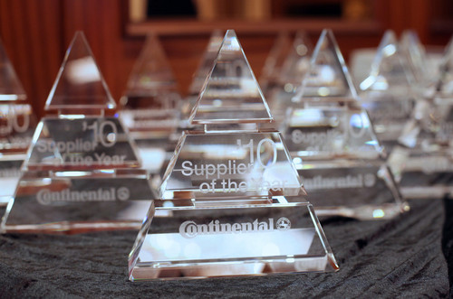 "Continental ""Supplier of the Year 2010"" Award."