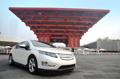 Der erste Chevrolet Volt in China.