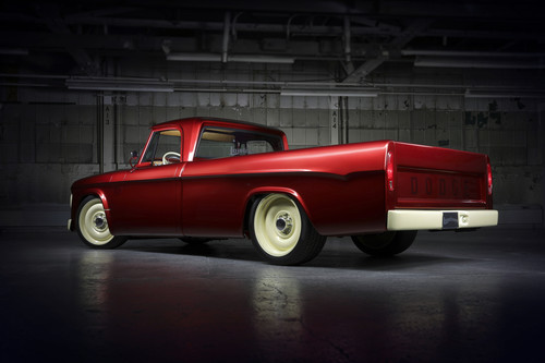 "Dodge-Pick-up (1968) ""Candied Delmonico Red and Dairy Cream Mopar Lowliner Concept""."