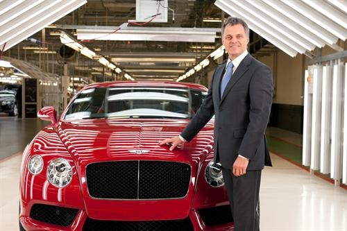 Dr Wolfgang Schreiber, Bentley Chairman and Chief Executive.