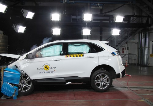 Ford Edge im Euro-NCAP-Crashtest.