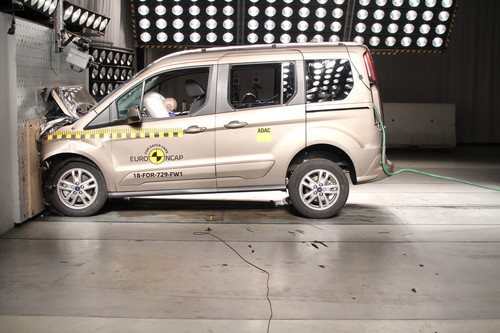 Ford Tourneo Connect im Euro-NCAP-Crashtest.