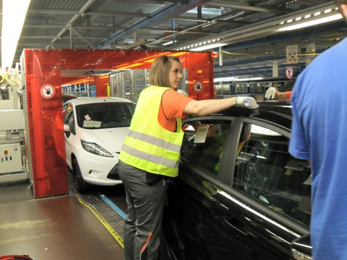 """Girls' Day"" bei den Ford-Werken."