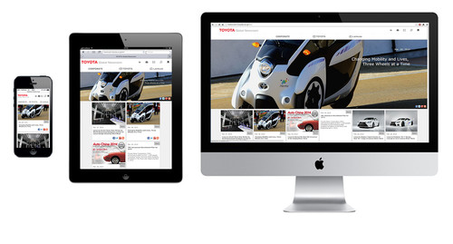 Globale Toyota-Website.