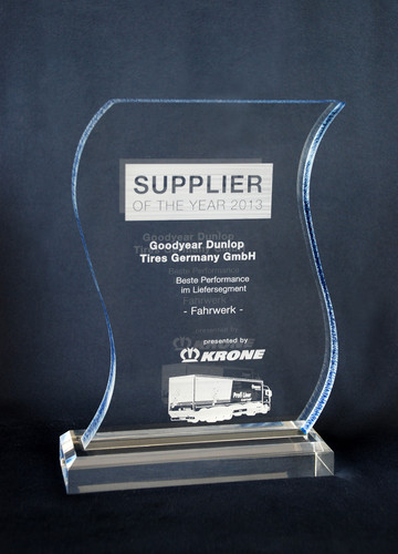 "Goodyear Dunlop hat von Krone den ""Supplier of the Year""-Award erhalten."