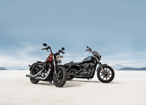 Harley-Davidson Forty-Eight Special (l.) und Iron 1200.