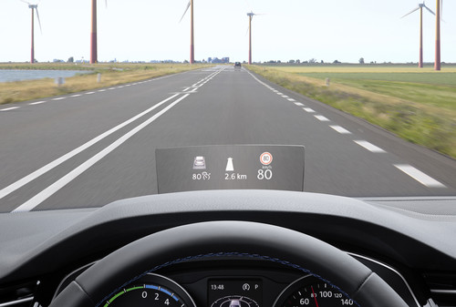 Head-up-Display im Volkswagen Passat.