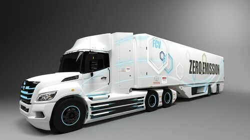 Hino XL Class 8 Fuel Cell Electric Truck.