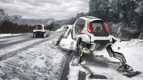 Hyundai-Prototyp Elevate Walking Car.