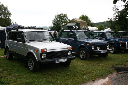 Internationales Treffen der Lada Niva IG in Stadtoldendorf.