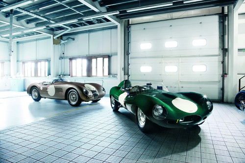 Jaguar C-Type (links) und D-Type.