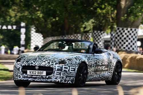 Jaguar F-Type getarnt beim Goodwood Festival of Speed.