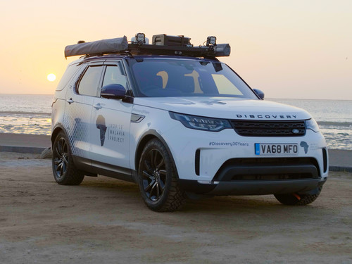Land Rover Discovery bei der Land Rover Experience Tour.