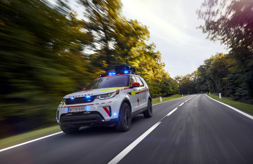 Land Rover Discovery Rotes Kreuz.