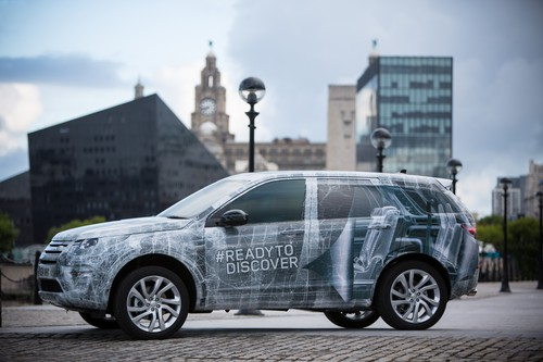 Land Rover Discovery Sport - noch getarnt.