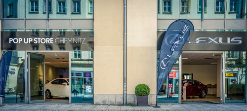 Lexus-Pop-up-Store in Chemnitz.