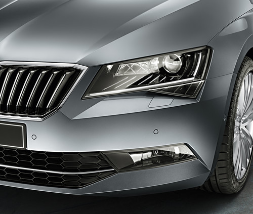 Lichtfeatures im Skoda Superb.