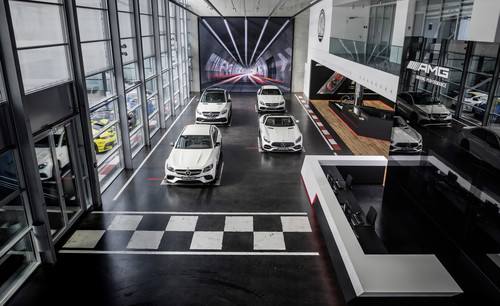 Mercedes-AMG-Showroom in Affalterbach.
