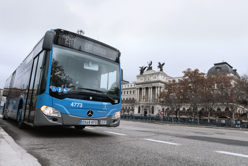 Mercedes-Benz Citaro NGT in Madrid.