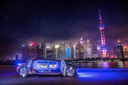 Mercedes-Benz F 015 Luxury in Motion in Shanghai.