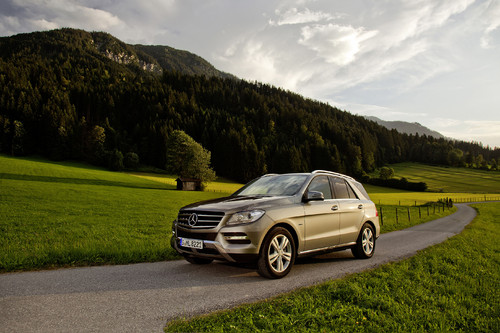 Mercedes-Benz ML 500 4Matic Blue Efficiency.