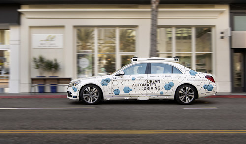 "Mercedes-Benz S-Klasse ""Urban Automated Driving""."
