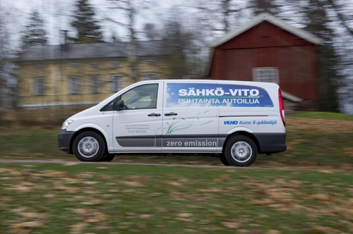 Mercedes-Benz Vito E-Cell in Finnland.