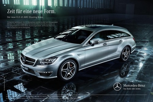 Mercedes-Benz-Werbekampagne zum CLS Shooting Brake.