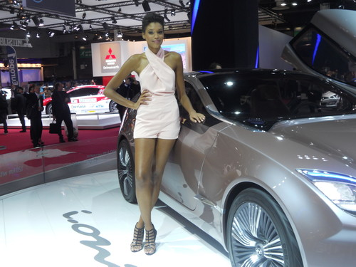 Messehostess auf dem Pariser Autosalon (Archivfoto).