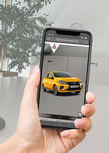 Mitsubishi Space Star in Augmented Reality.