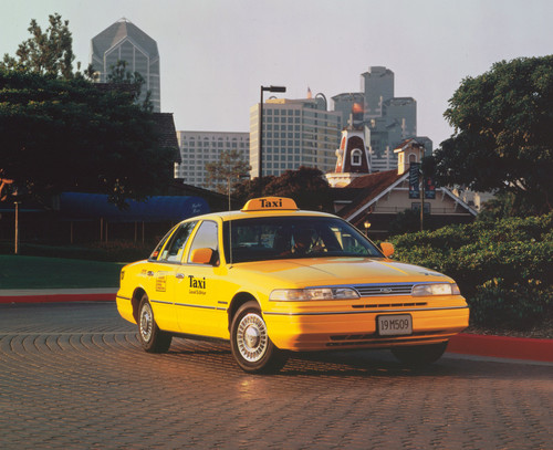 New Yorker Taxis: Der Klassiker Ford Crown Victoria.