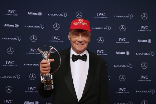 "Niki Lauda bei der Verleihung ""Laureus World Sport Awards 2016"" von Mercedes-Benz in Berlin."