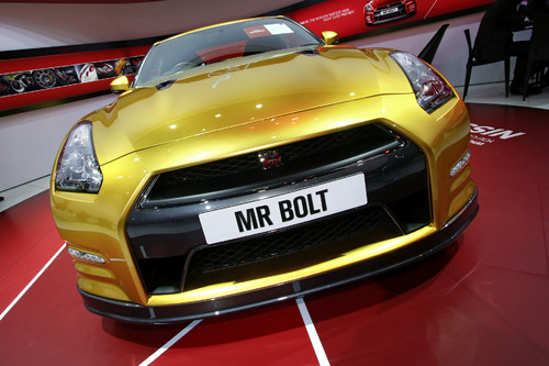 Nissan Usain Bolt Gold GT-R Limited Edition.