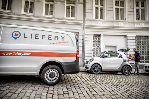 "Paketzustelldienst ""Smart ready to drop+""."