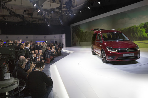 Präsentation des Volkswagen Caddy in Poznan.