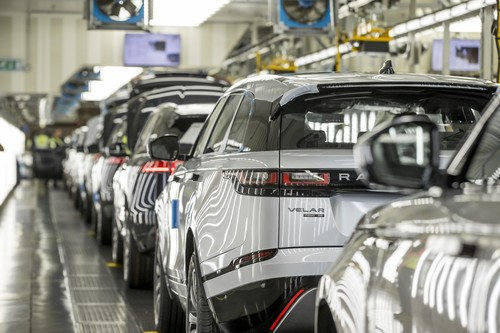 Produktion bei Land Rover.