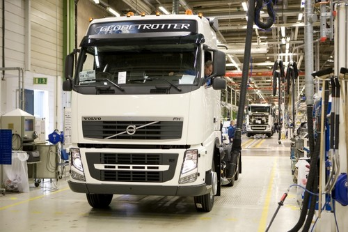Produktion bei Volvo Trucks.