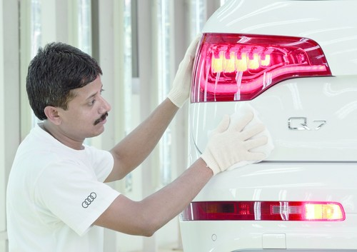 Produktion des Audi Q7 in Indien.